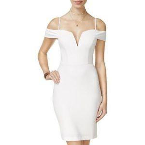 City Studio Cold-Shoulder Bodycon Dress